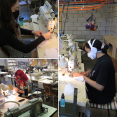 At the initiative of Vestechpro, École de mode students are mobilizing  to make face coverings for the CIUSSS-NÎM