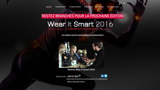 Wear It Smart 2016 | Stay tuned for 2nd edition 				Wear It Smart 2016 | Demeurez à l'affût du dévoilement de la 2e édition